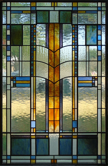 Stained glass arts and crafts window by The Glass Studio