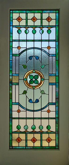 Stained glass door by The Glass Studio