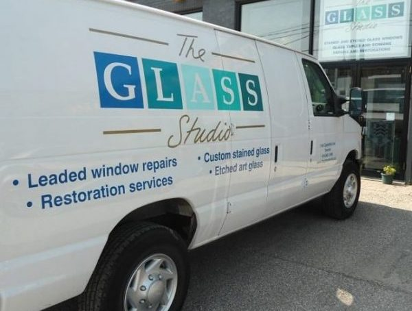 The Glass Studio stained glass service van