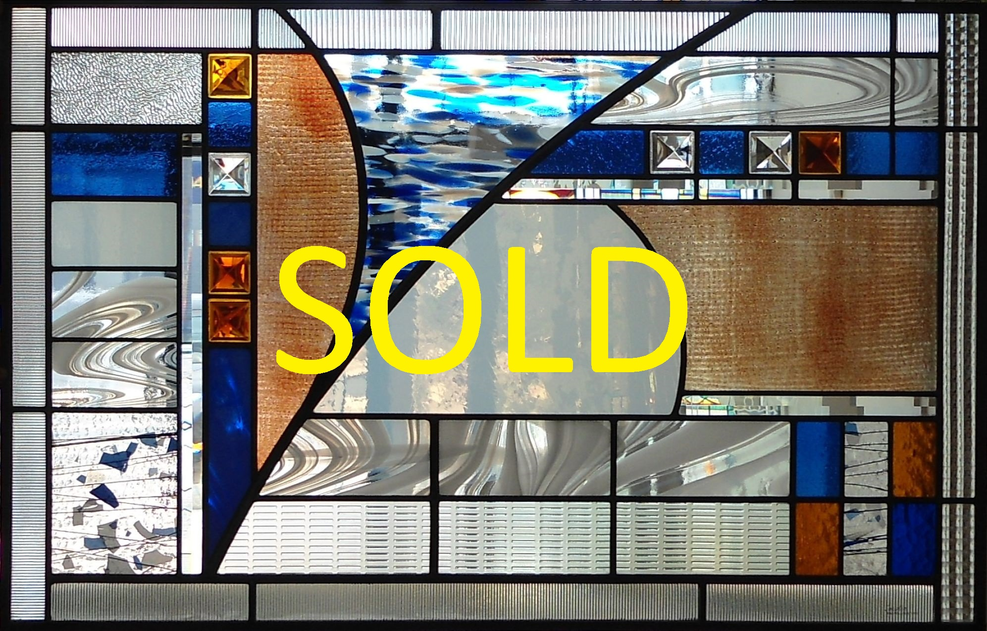 Stained glass window by glass artist Thomas Smylie